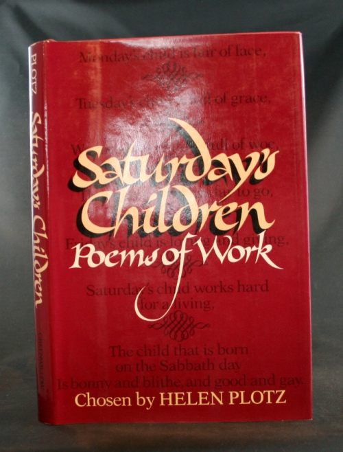 Image for Saturday's Children: Poems of Work